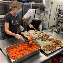 Aramark prepares meals for Out of the Cold.