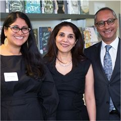 Mira Gambhir, Director of the CRC, with Minu and Raj Chandaria.
