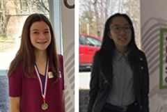 Grade 8 student Bella and Grade 11 student Jacqueline participated at the annual Concours et festival d'art oratoire.
