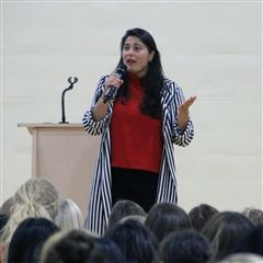 Sharmeen Obaid-Chinoy, an Academy Award-winning filmmaker and activist, shared her powerful stories with our Grade 6-12 students during a recent assembly.