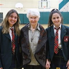 Hedy Bohm, a Holocaust survivor, spoke movingly about her experiences in the Auschwitz-Birkenau concentration camp, during our Holocaust Education Week assembly.