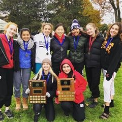 Senior Cross Country team (above) were crowned the CISAA overall champs.