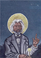 Icon of Frederick Douglass by Kelly Latimore