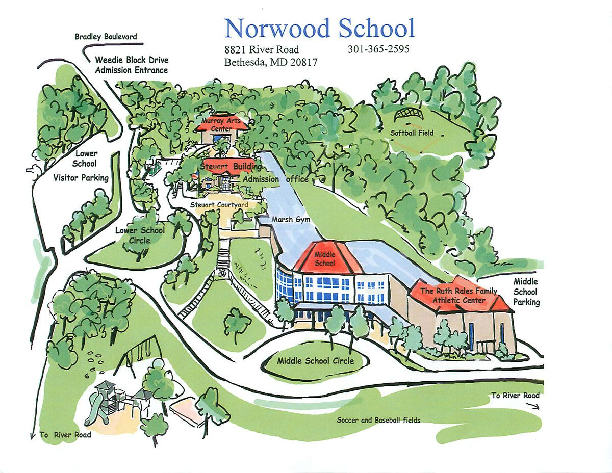 Norwood School Campus Tour and Map