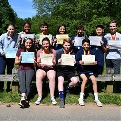 Eighth grade recipients of National Spanish Exam awards..
