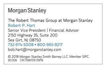 Robert P. Hart, Financial Advisor. Morgan Stanley.