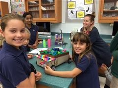 2nd grade students present their design solution at the STEM Fair