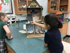 5th grade students designed little house with working electrical components such as lights