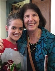 Alum Katie Fites ('15), who had a lead role in the Bolles production of a High School Musical with JCDS Music Specialist Virginia Dickert