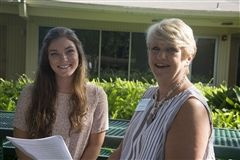 Allison Henderson ('12) with Head of School Pat Walker
