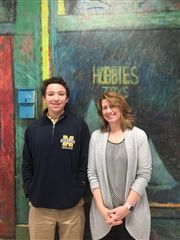 Max Barcomb '20 is pictured with faculty member Linda Zins-Adams. Linda is our World Language Chair and AP Curriculum Director.