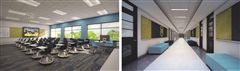 Moeller's Classroom 2.0 project. A rendering of the future classrooms and hallways.