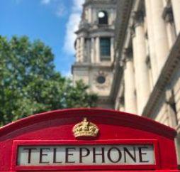 red telephone call-box