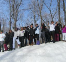 group of students in Québec