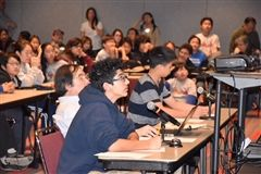 Zack Mazaheri ('21) in full focus at the MathCounts competition