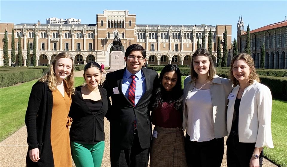Claire Glymph, Anjali Gulasingam, Adelaide Herman, Sarah Mittelman, Alessandra Ramirez and Rishi Wahi participated in multiple rounds of head-to-head competition.