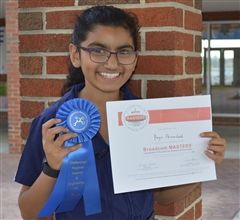 A sixth grader won two awards at the science fair.