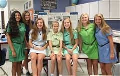 Seventh graders celebrated a first-place win and Honorable Mention at the state level.