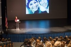 Katey McPherson speaks to parents about social media use