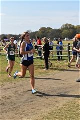 Senior Carley Braman leads the pack to finish second at state