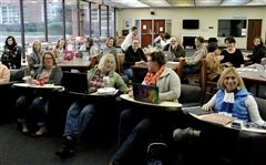 Throughout the two-day in-service, GPS faculty engage in workshops around campus.