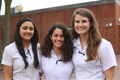 Ruchi Patel, Honor Council; Olivia Fannon, PIC; Allison Smith, Student Council