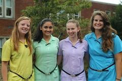 GPS Commended Students, from left, Lane Lawrence, Ruchi Patel, Olivia Combs, and Allison Smith.