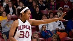 Coach Eichelberger during her time at IUPUI