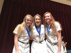 Rogers, Paty, and Kelley place first in Senior Group Documentary.
