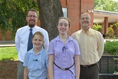 From left, Jay Watts, Katie Hubbard, Belle Wallin, and Mark Vosskamp