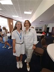 Marilyn Sherman Center '58 with granddaughter Olivia Center '26