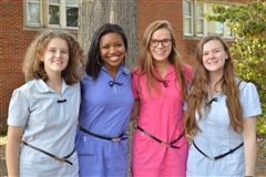 From left, Astra Burke, Jadyn Matthews, Meg Priest, and Leightta Sherrill. Not pictured, Alex Center.