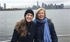 Katharine McCallie Gardner '80 and daughter Becky '13