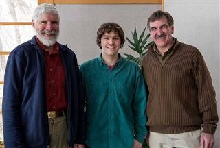 Pictured are former Zoo Director Jono Meigs, Addison Tate, and current Director Alan Tousignant.