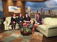 L-R: Jadalise Pacheco '18, Jane Roche '19, Vocal Music teacher Ms. Kathleen Cooper and WKYC's Hollie Strano