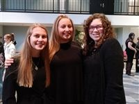 L-R: Honors Band members Kylie Schmitz '19, Emily Austin '20 and Annie Yantek '19