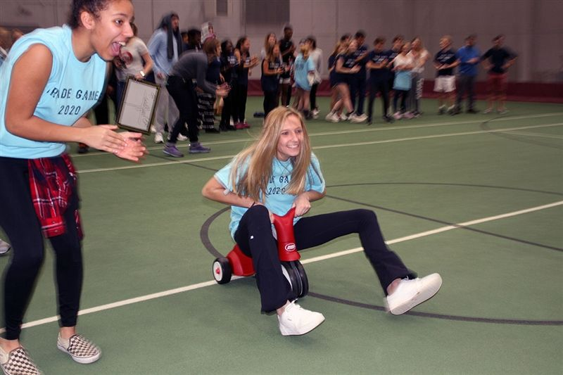 Freshmen and sophomores battled in the Grade Games during January's Community Weekend.