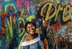 Before Dartmouth, Lauryn King '17 studied in Germany and traveled in Europe, with stops including the John Lennon Wall in Prague.