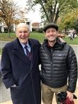 Paul Ryan (right), former Speaker of the U.S. House of Representatives, at the fall Spirit Weekend with Julian Robertson '51.