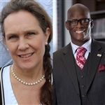 Debby Irving and Dr. Eddie Moore, partners in racial justice.