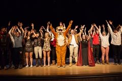 Students take a bow at the end of the 24-Hour Play Festival