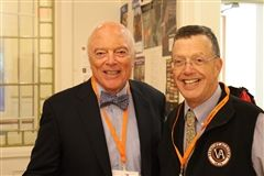 George Welles '53, left, and fellow member of the Board of Trustees Peter Howe P '07, '10