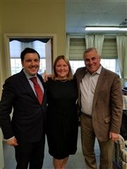 Gonzalo Inclán, head of Liceo Europeo; Dr. Jennifer L. Zaccara, Vermont Academy's head of school; and Michael A. Choukas '73, P '94, chair of the Vermont Academy Board of Trustees