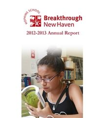 2013 Breakthrough New Haven Annual Report