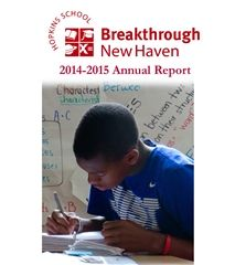 2015 Breakthrough New Haven Annual Report