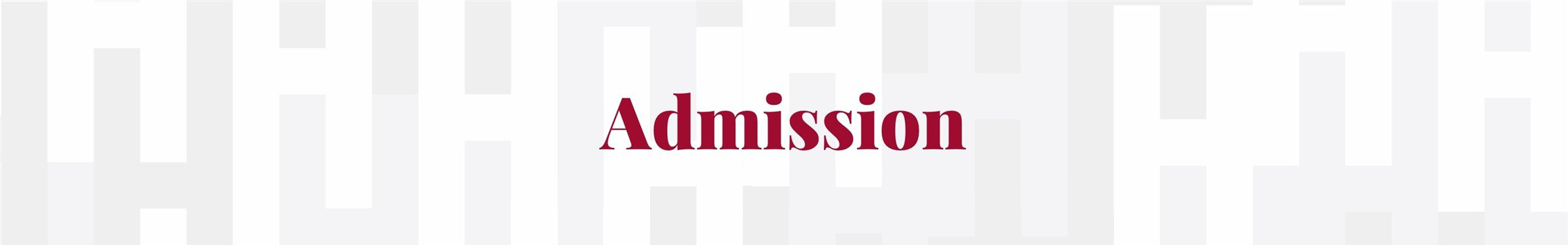 Admission Text Only