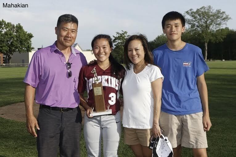 The Chung Family after Varsity Softball won the 2016 FAA Championship.