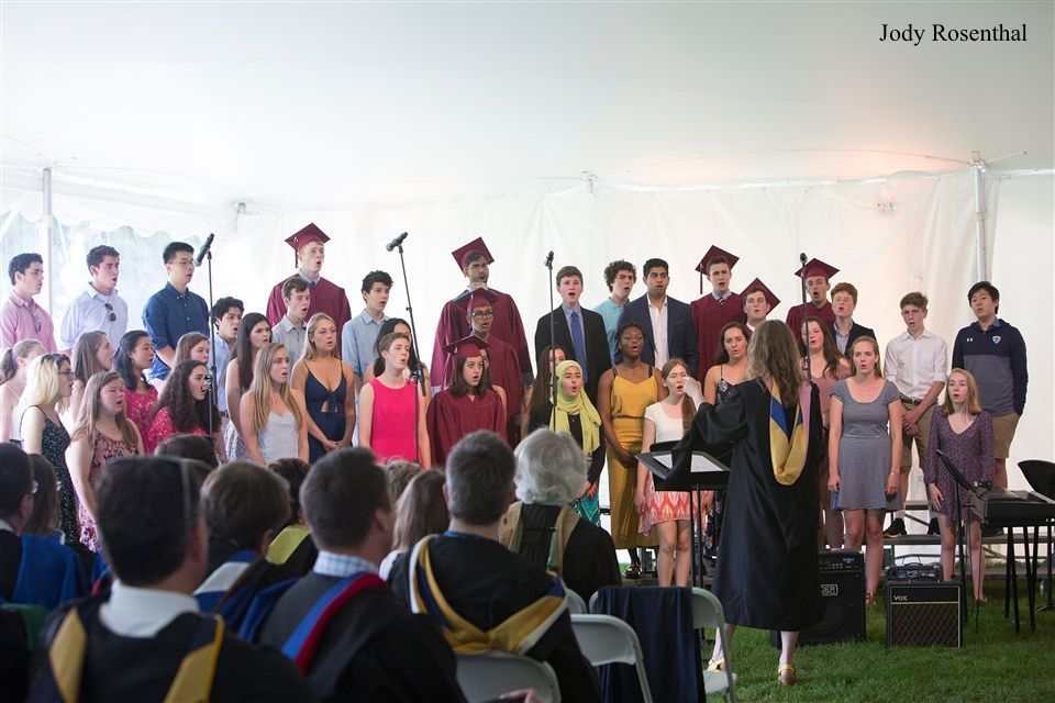Concert Choir performs at Commencement in 2018.