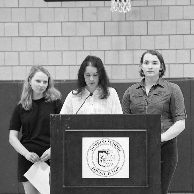 ERRO heads speak about the importance of consent in Assembly during the 2018-2019 school year.