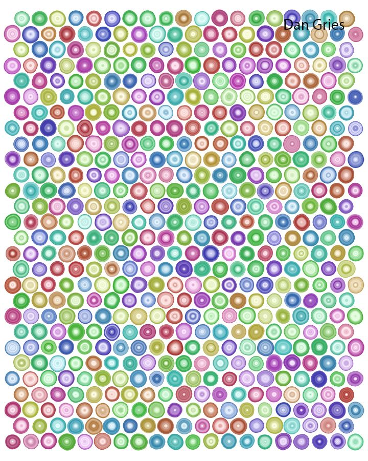 Gries has made many piece with imperfect circles.